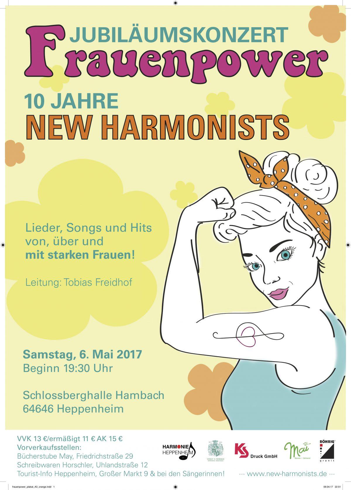 Jubiläumskonzert 10 Jahre New Harmonists 06.05.2017